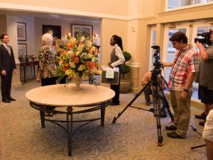 Residents Have Fun with Television Shoot