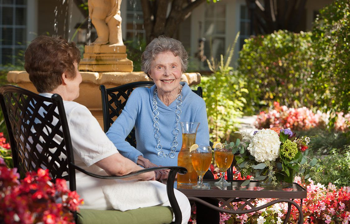 McKnight Place Skilled Nursing Home Senior Living Outdoor Spaces Patio Gourmet Dining Healthy