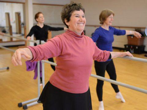 senior ballet dancing class