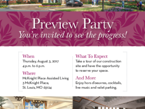 You are invited to the McKnight Place Assisted Living Expansion Preview Party!