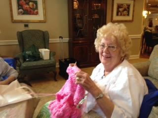 knitting crochet activities seniors nursing home assisted living