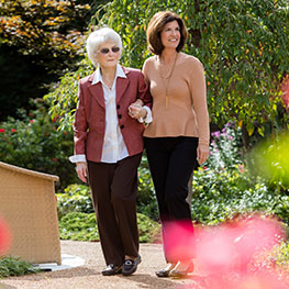 McKnight Place senior citizen assisted living skilled nursing outdoor spaces health walking