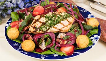 McKnight Place salmon salad
