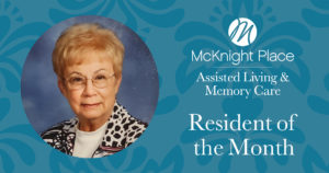 Beverly Roche Resident of the Month Nov. 2019